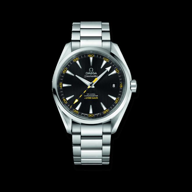 """Herrenuhr Omega Seamaster Aqua Terra 150M Co-Axial 41,5mm """"15.000 Gauss"""" mit schwarzem Zifferblatt und Edelstahlarmband"""