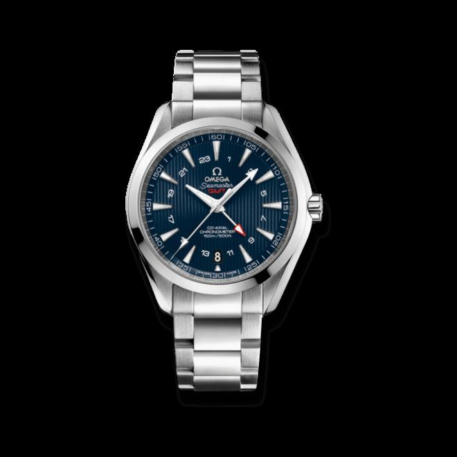Herrenuhr Omega Seamaster Aqua Terra 150M Co-Axial GMT 43mm mit blauem Zifferblatt und Edelstahlarmband