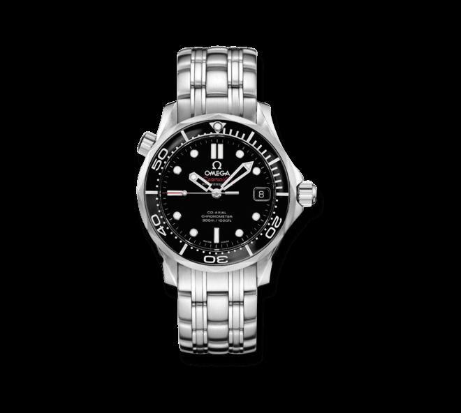 Herrenuhr Omega Seamaster Diver 300M Co-Axial 36,25mm mit schwarzem Zifferblatt und Edelstahlarmband