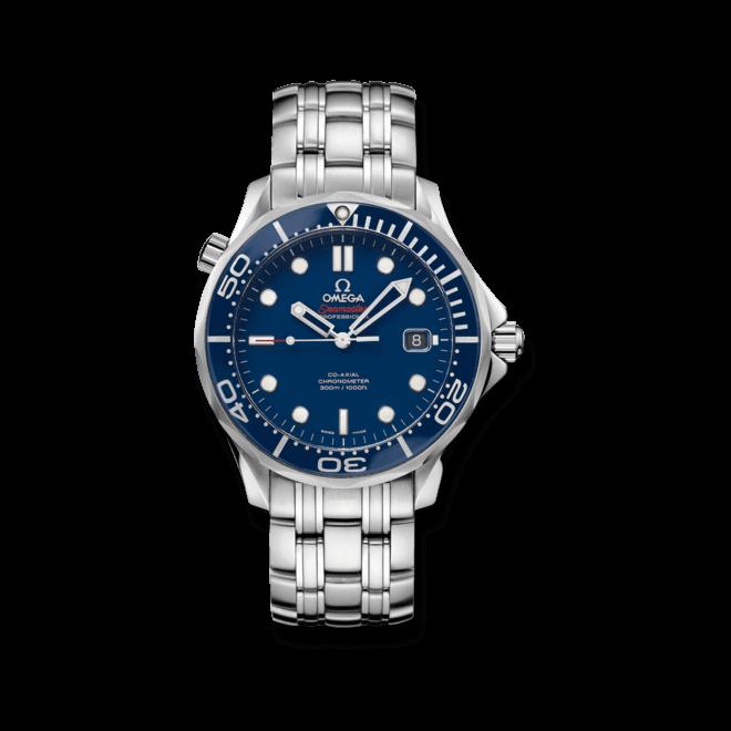 Herrenuhr Omega Seamaster Diver 300M Co-Axial 41mm mit blauem Zifferblatt und Edelstahlarmband