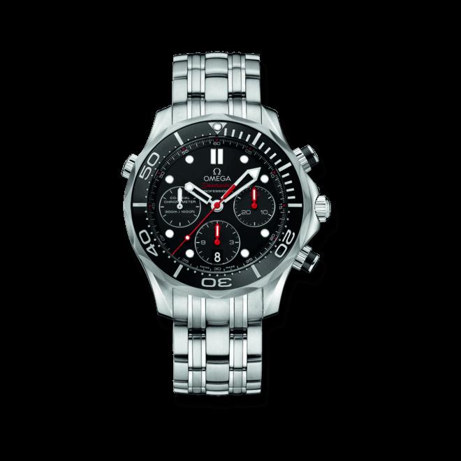 Herrenuhr Omega Seamaster Diver 300M Co-Axial Chronoghraph 41,5mm mit schwarzem Zifferblatt und Edelstahlarmband