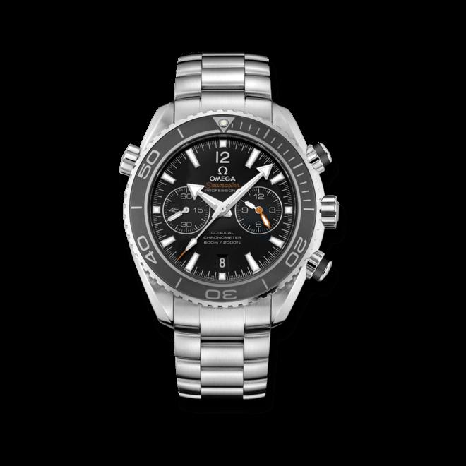 Herrenuhr Omega Seamaster Planet Ocean 600M Co-Axial Chronograph 45,5mm mit schwarzem Zifferblatt und Edelstahlarmband