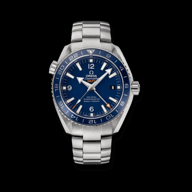 Herrenuhr Omega Seamaster Planet Ocean 600M Co-Axial GMT 43,5mm mit blauem Zifferblatt und Titanarmband