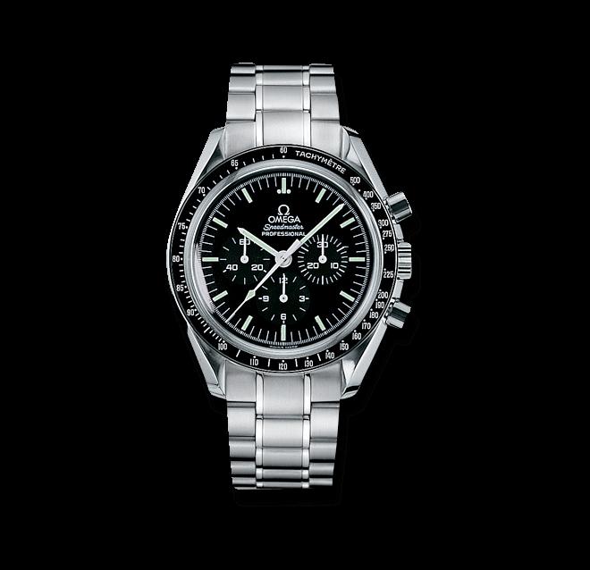 Herrenuhr Omega Speedmaster Moonwatch Professional 42mm mit schwarzem Zifferblatt und Edelstahlarmband