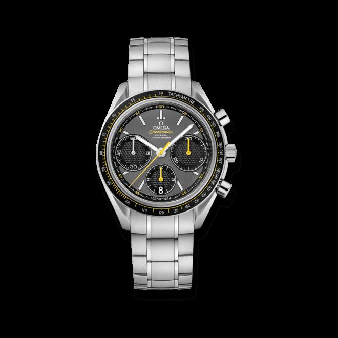 Herrenuhr Omega Speedmaster Racing Co-Axial Chronograph 40mm mit grauem Zifferblatt und Edelstahlarmband