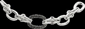 Armband Pomellato 67 aus 925 Sterlingsilber mit mehreren Markasiten