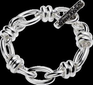 Armband Pomellato Rondelle aus 925 Sterlingsilber mit mehreren Markasiten