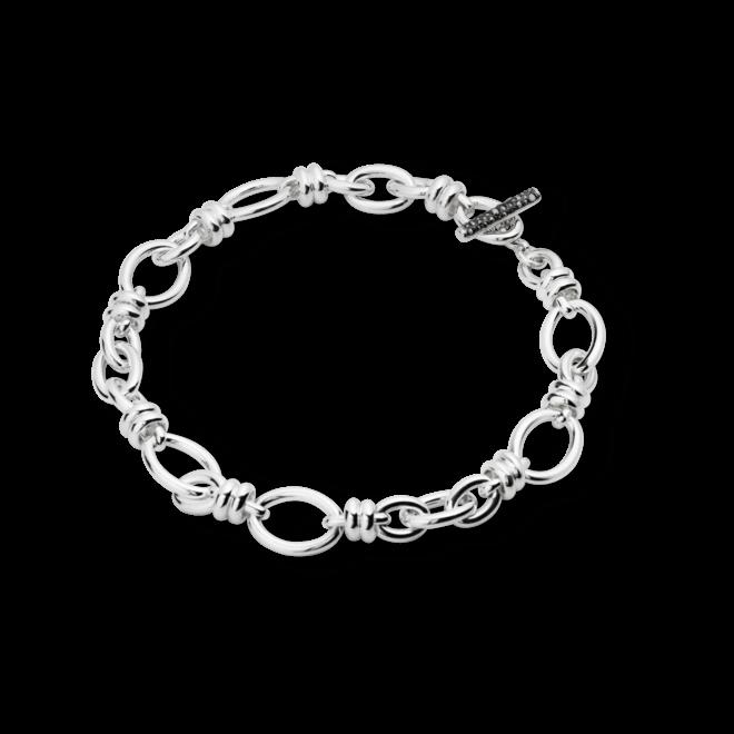 Halskette Pomellato Rondelle aus 925 Sterlingsilber mit mehreren Markasiten