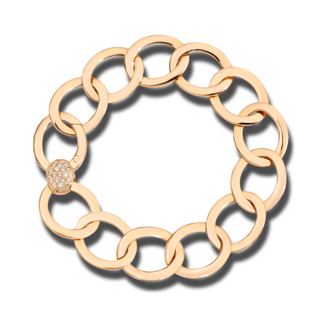 Armband Pomellato Brera aus 750 Roségold mit 23 Diamanten (0,3 Karat) Größe 17 cm bei Brogle