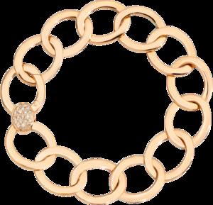 Armband Pomellato Brera aus 750 Roségold mit 23 Diamanten (0,3 Karat) Größe 17 cm