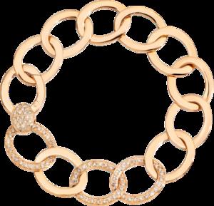 Armband Pomellato Brera aus 750 Roségold mit 95 Diamanten (1,3 Karat) Größe 17 cm