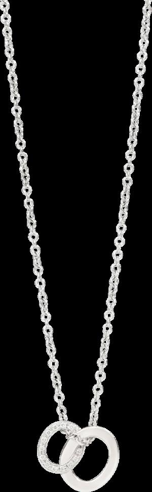 Halskette mit Anhänger Pomellato Brera aus 750 Weißgold mit 26 Diamanten (0,1 Karat)
