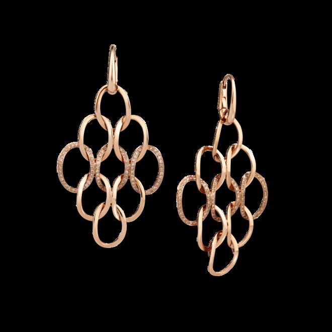 Ohrring Pomellato Brera Kronleuchter aus 750 Roségold mit 180 Diamanten (2 x 0,55 Karat) bei Brogle