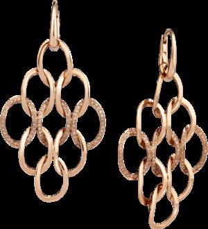 Ohrring Pomellato Brera Kronleuchter aus 750 Roségold mit 180 Diamanten (2 x 0,55 Karat)
