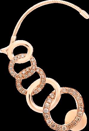 Ohrhänger Pomellato Brera linker Ohrhänger aus 750 Roségold mit 48 Diamanten (2 x 0,495 Karat)