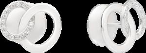 Ohrring Pomellato Brera aus 750 Weißgold mit 26 Diamanten (2 x 0,05 Karat)
