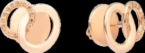 Ohrring Pomellato Brera aus 750 Roségold mit 26 Diamanten (2 x 0,05 Karat)