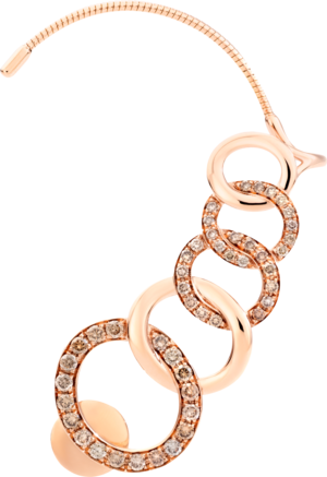 Ohrhänger Pomellato Brera rechter Ohrhänger aus 750 Roségold mit 48 Diamanten (2 x 0,495 Karat)
