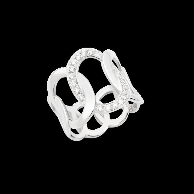 Ring Pomellato Brera aus 750 Weißgold mit 20 Diamanten (0,3 Karat)