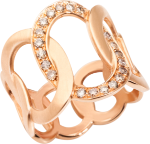 Ring Pomellato Brera aus 750 Roségold mit 20 Diamanten (0,3 Karat)