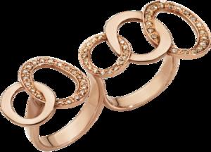 Ring Pomellato Brera aus 750 Roségold mit 54 Brillanten (0,7 Karat)