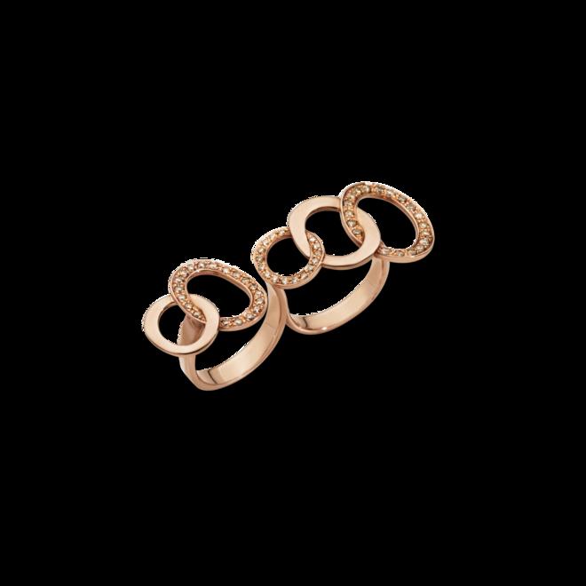 Ring Pomellato Brera aus 750 Roségold mit 54 Brillanten (0,7 Karat) bei Brogle