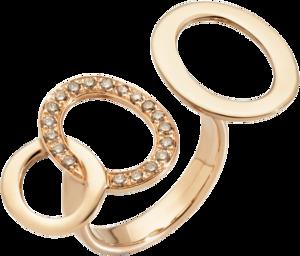 Ring Pomellato Brera aus 750 Roségold mit 19 Brillanten (0,24 Karat)