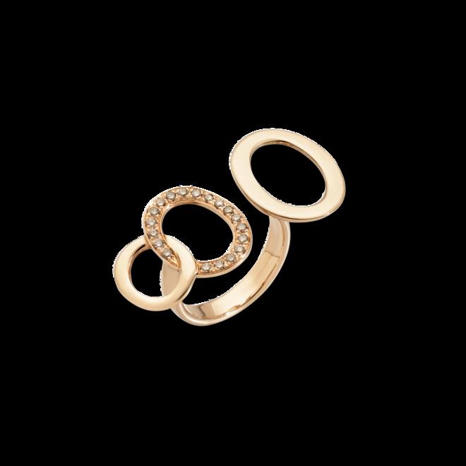 Ring Pomellato Brera aus 750 Roségold mit 19 Brillanten (0,24 Karat) bei Brogle