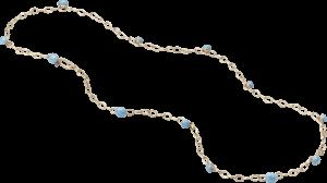 Halskette Pomellato Capri aus 750 Rotgold mit mehreren Edelsteinen