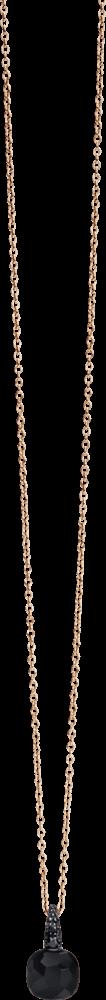 Halskette mit Anhänger Pomellato Capri aus 750 Roségold mit 1 Onyx und mehreren Brillanten (0,09 Karat)