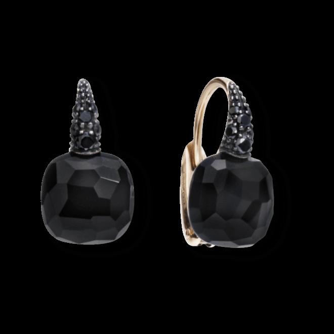 Ohrring Pomellato Capri aus 750 Roségold mit 2 Onyxen und mehreren Brillanten (2 x 0,085 Karat)