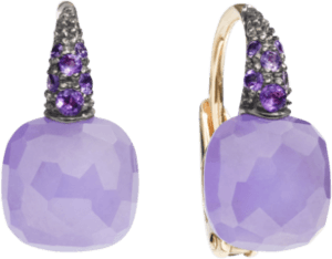 Ohrring Pomellato Capri aus 750 Roségold mit Edelsteinen