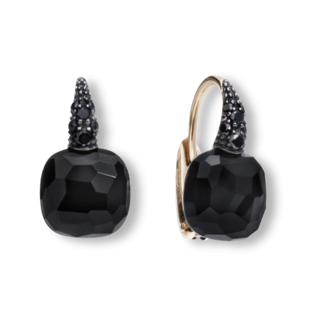 Ohrring Pomellato Capri aus 750 Roségold mit 2 Onyxen und mehreren Brillanten (2 x 0,085 Karat) bei Brogle