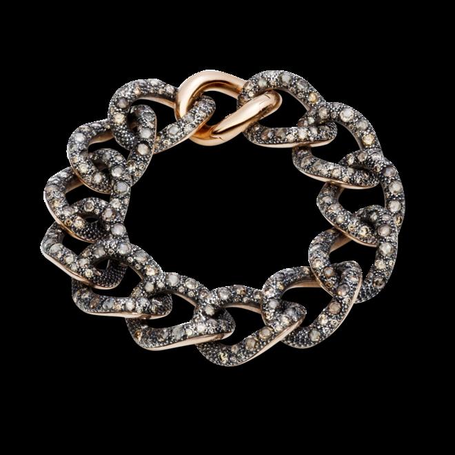 Armband Pomellato Catene aus 750 Roségold und 925 Sterlingsilber mit mehreren Diamanten (14,95 Karat) bei Brogle