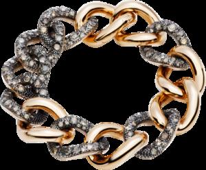 Armband Pomellato Catene aus 750 Roségold und 925 Sterlingsilber mit mehreren Diamanten (9,1 Karat)
