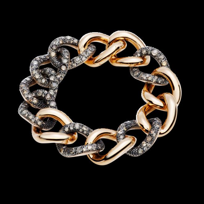 Armband Pomellato Catene aus 750 Roségold und 925 Sterlingsilber mit mehreren Diamanten (9,1 Karat) bei Brogle