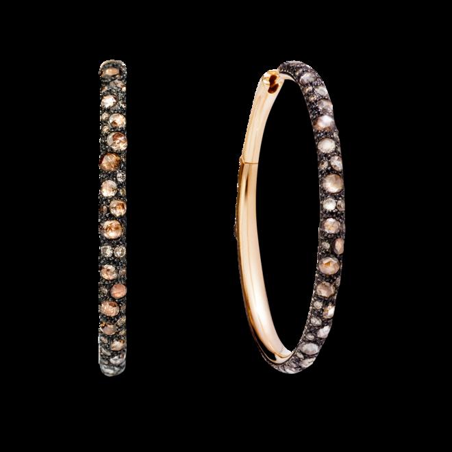 Ohrring Pomellato Catene aus 750 Roségold mit mehreren Diamanten (2 x 2,525 Karat) bei Brogle
