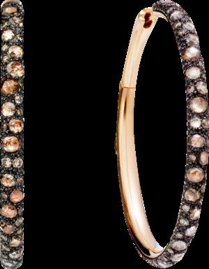 Ohrring Pomellato Catene aus 750 Roségold mit mehreren Diamanten (2 x 2,525 Karat)