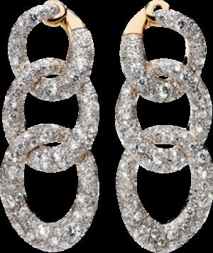 Ohrring Pomellato Catene aus 750 Roségold und 925 Sterlingsilber mit mehreren Brillanten (2 x 3,4 Karat)
