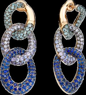 Ohrring Pomellato Catene aus 750 Roségold und 925 Sterlingsilber mit Edelsteinen