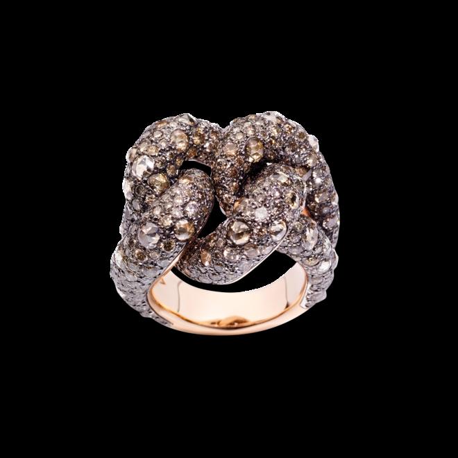 Ring Pomellato Catene aus 750 Roségold und 925 Sterlingsilber mit mehreren Diamanten (7,86 Karat) bei Brogle