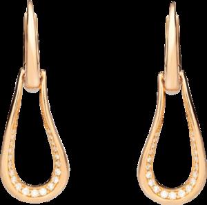 Ohrhänger Pomellato Fantina aus 750 Roségold mit 42 Diamanten (2 x 0,25 Karat)
