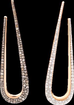 Ohrhänger Pomellato Fantina aus 750 Roségold mit 284 Diamanten (2 x 1,33 Karat)