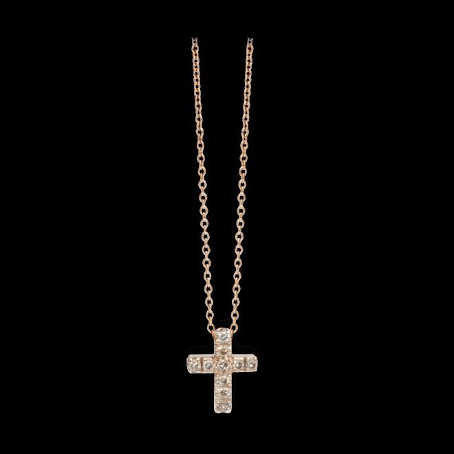 Halskette mit Anhänger Pomellato Glory aus 750 Roségold mit mehreren Diamanten (0,2 Karat)