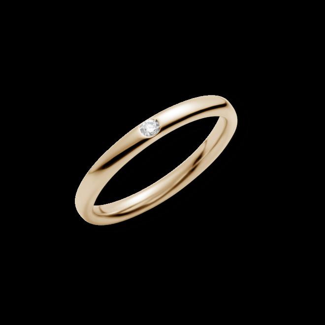 Ring Pomellato Gold aus 750 Roségold mit 1 Brillant (0,03 Karat)