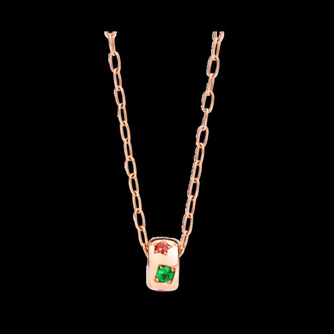 Halskette mit Anhänger Pomellato Iconica aus 750 Roségold mit 1 Tsavolith und mehreren Edelsteinen bei Brogle