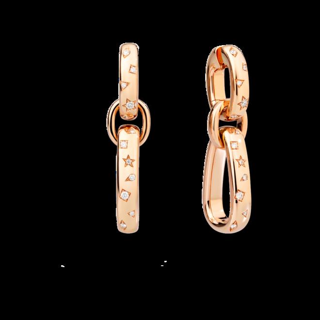 Ohrhänger Pomellato Iconica aus 750 Roségold mit 26 Diamanten (2 x 0,38 Karat) bei Brogle