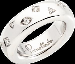 Ring Pomellato Iconica aus 750 Weißgold und Rhodium mit 17 Diamanten (0,5 Karat)