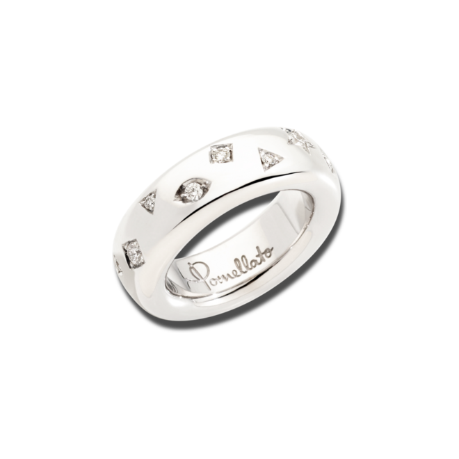Ring Pomellato Iconica aus 750 Weißgold und Rhodium mit 17 Diamanten (0,5 Karat) bei Brogle