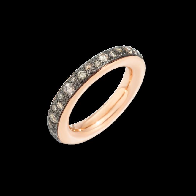 Ring Pomellato Iconica aus 750 Roségold und 750 Weißgold mit 38 Brillanten (1,06 Karat) bei Brogle